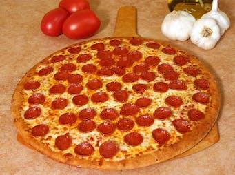 Pizza z kiełbasą pepperoni