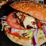 Burger Cemita z halloumi vege
