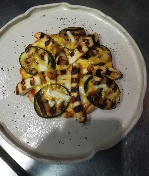 Halloumi # zucchini pita pizza