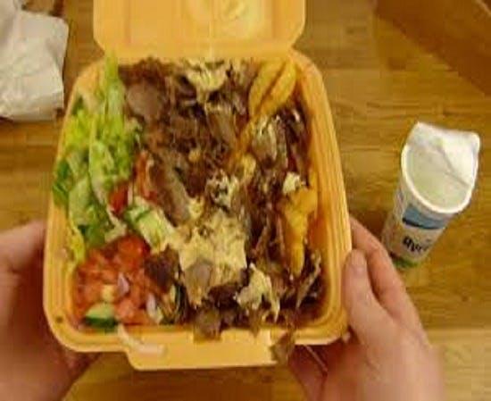 Kebaby na talerzu