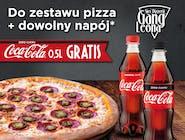 Zestaw duża pizza + napój + Coca-Cola Zero 0,5l GRATIS