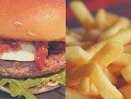 Burger Włoski z frytkami