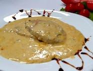 Escalop de porc cu sos de gorgonzola