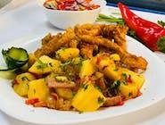 Pui Shanghai + garnitura + salata + chifla