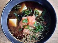 Misoshiru z tofu i łososiem