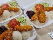 Kuracie stripsy s ryžou