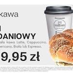 Bajgiel Śniadaniowy + mała kawa