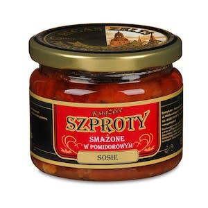 """Szproty smażone w sosie pomidorowym """" Książęce"""""""