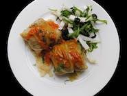Gołąbki z ryżem i warzywami