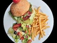 Zestaw z podwójnym burgerem