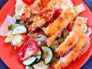 Mix sałatkowy z rybą na chrupko
