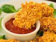 Stripsy z kurczaka z sosem sweet chili  /frytki /surówka