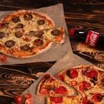 2 Duże pizzy + CocaCola 0,5l