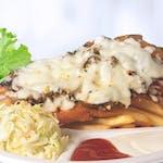 Meniu Șnițel de Pui cu Mozzarella și Ciuperci