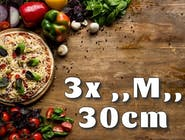 3x Pizza ,,M,, 30cm
