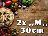 2x Pizza ,,M,,30cm