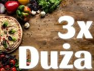 3x DUŻA Pizza 30cm