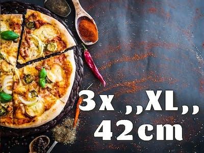 3x Pizza ,,XL,, 42cm