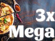 3x MEGA Pizza 42cm