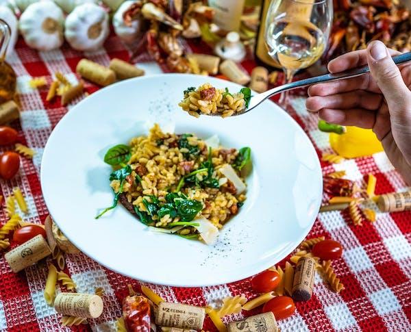 Risotto Salssicia e spinaci