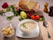 Supă cremă de ciuperci cu crutoane