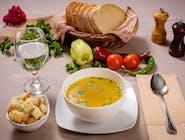 Supă de pui cu gârteni