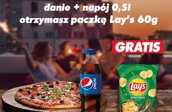 Chipsy Lays gratis do każdego zamówienia z Napojem