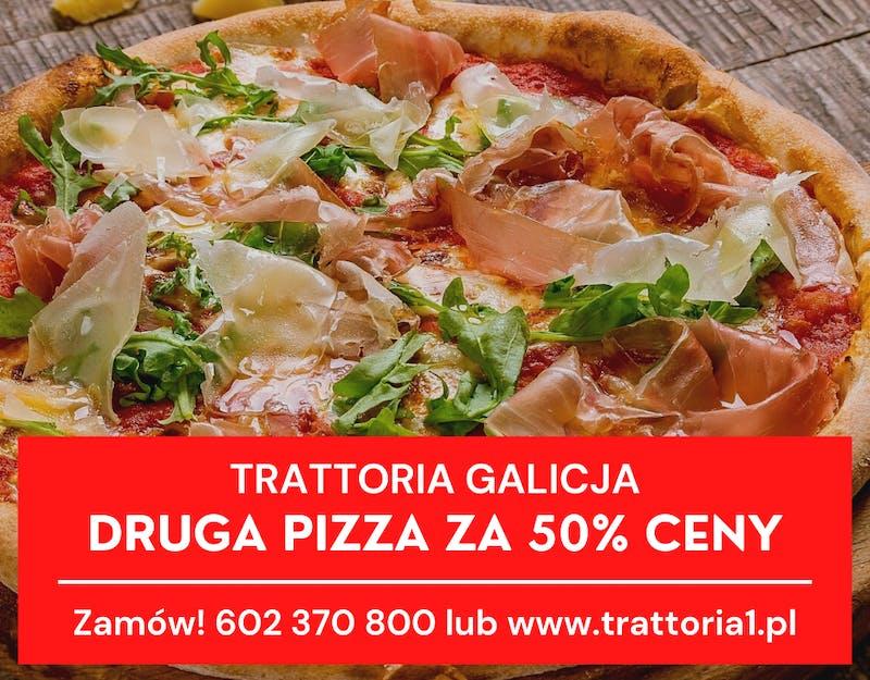 Druga pizza za pół ceny!