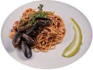 Spaghette de casă cu fructe de mare