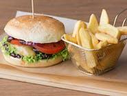 Burger Spartakus z Frytkami