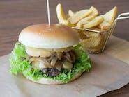 Burger Afrodyta z Frytkami