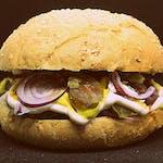 XXL naprawdę duuuży hamburger