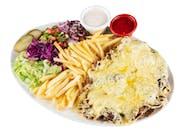 Kebab z serem na talerzu - Medium