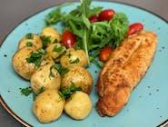 Kotlet Devolay,ziemniaki