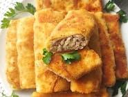 Krokiety z mięsem i ziemniaki puree