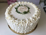 Tort komunijny śmietankowy, okrągły