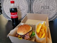 Menu 1: Hovädzí burger + hranolky + 0,5l Coca Cola