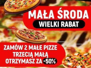 mała środa WIELKI RABAT: Trzecia mała pizza -50%