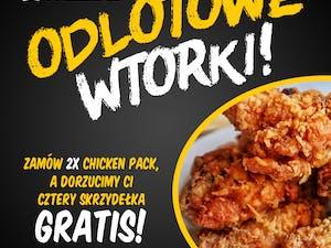 ODLOTOWE WTORKI 2x Chicken Pack + 4 Skrzydełka Gratis