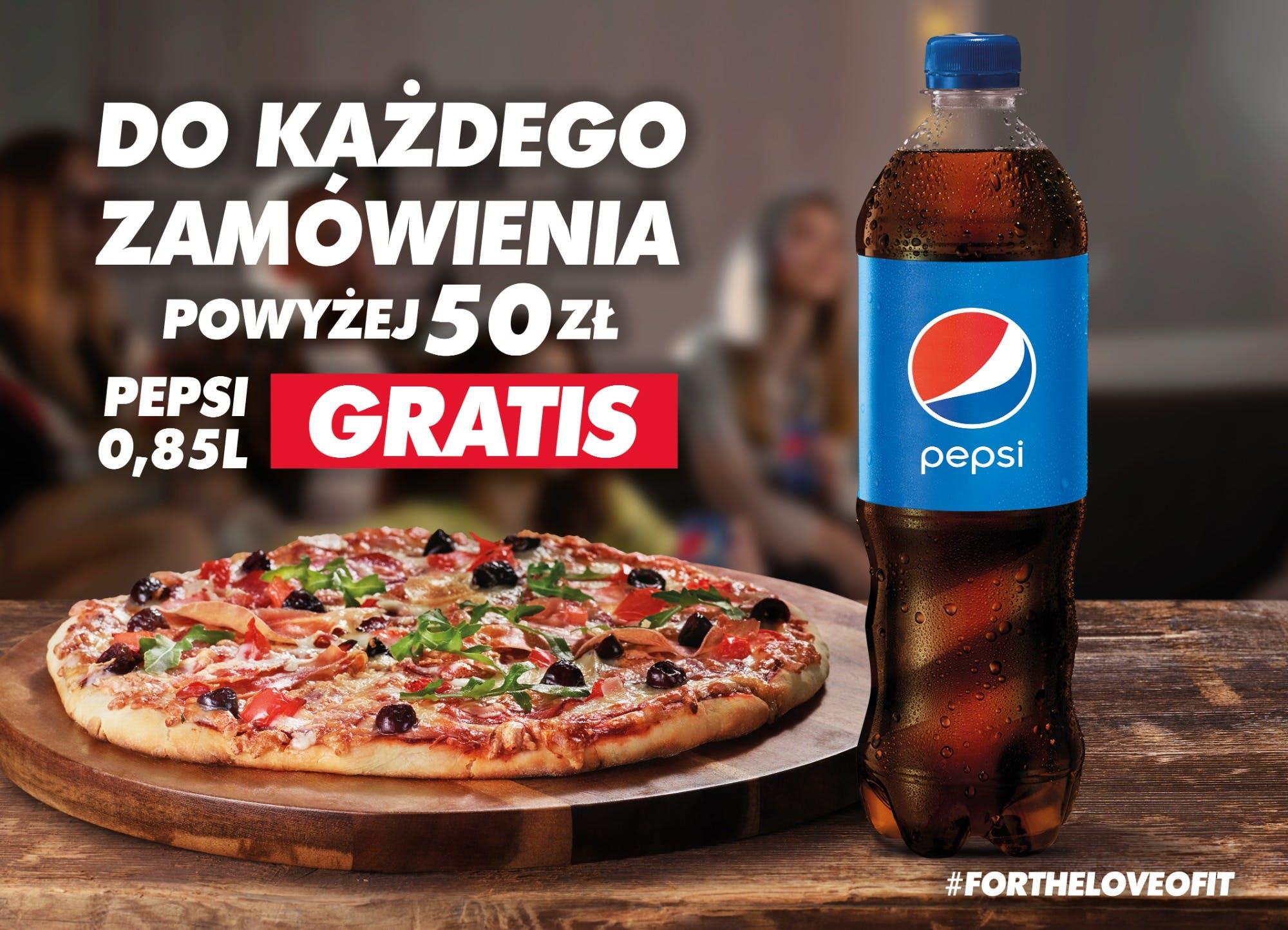 Pepsi 0.85 gratis.