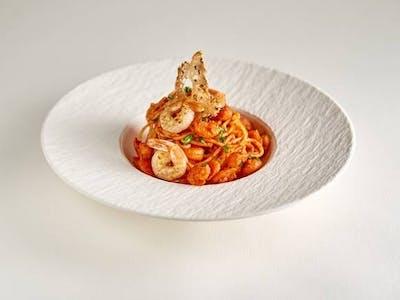 Spaghetti gamberi e pomodori