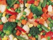 Mr Frost Import Warzywa na patelnię Mix, 2,5 KG/TU groszek, cebula, pieczar., kukur., kalafior, marchew, fasolka, papryka, brokuły DUŻE OPAKOWANIE 2,5KG !! Numer artykułu 10359563