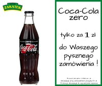 Coca-Cola zero 0,33l za 1 zł