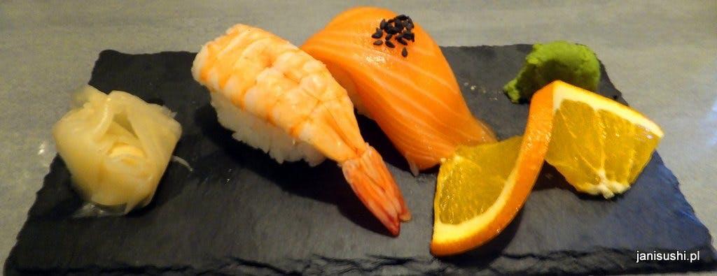 NIGIRI 2 szt.     - ryż w kształcie paluszka z płatem ryby na wierzchu