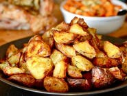 ZESTAW Schabowy z pieczonymi ziemniakami, zupa, surówka, kompot