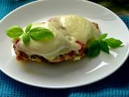 ZESTAW Filet drobiowy z pomidorem i mozarellą z ziemniakami i zupą do wyboru + surówka + kompot