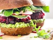 9. Vege burger z buraka lub kalafioru (160g)