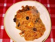 Spaghetti z krewetkami 16/20
