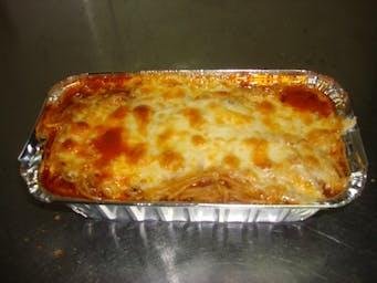 Spaghetti Bolońskie zapiekane z serem