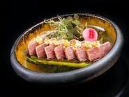 Tataki z łososia lub tuńczyka